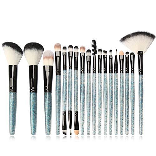 Pro Make-up Pinsel Full Set 18Pcs Glitter Brush Griff - für Lidschatten Highlighter Rouge Eyeliner...
