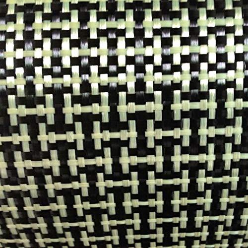 CUSHY 1100D/3K 200gsm i Weave Giallo Kevlar e Fibra di Carbonio Misto Tessuto Liscio Carbonio Kevlar Panno