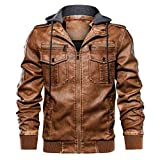 Zolimx-Bekleidung Herren Eco-Lederjacke Cleane Leichte Basic Jacke Vegan Herren Lederjacke (Slim Fit), Lamm Echtleder
