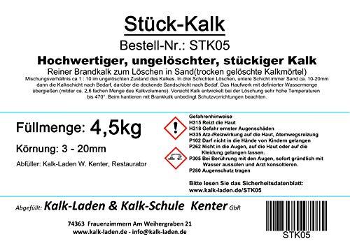 Gebrannter Kalk 4,5 Kg (Stück-Kalk)