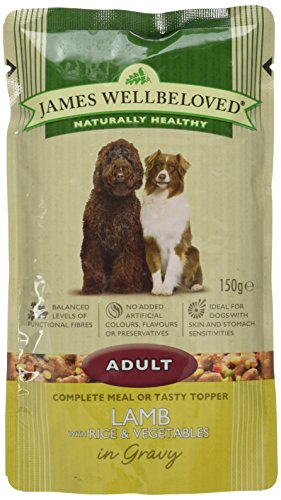 James Wellbeloved Dog Food Adult Lamb with Rice and Vegetables 10 pouches x 150 g