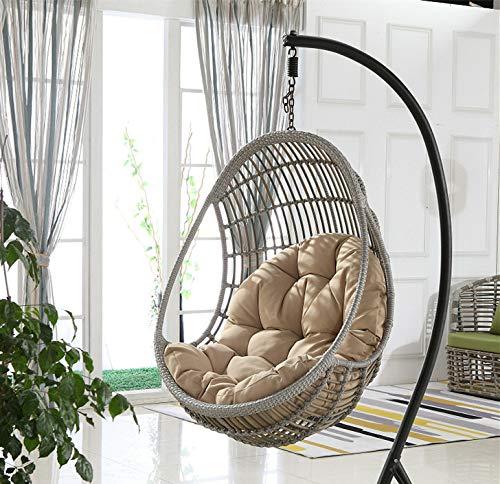 Hi_Smile Schaukelkissen Hängekorb Sitzkissen dick Einzelbett Sofa Kissen Wiege Stuhl Kissen - Hi Khaki