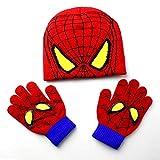 Baby Mütze Handschuhe Set Kinderhandschuh Hüte Sets Spiderman Fashion Kids Warm Strickmützen Handschuhe Beanies Anzug