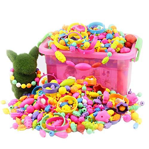 zaote Snap Pop Perlen Pop Beads Schmuckherstellung Kit Kunsthandwerk Kinder Mädchen Spielzeug für Halskette Armband und Ring Classical (Bead Kits Für Mädchen)