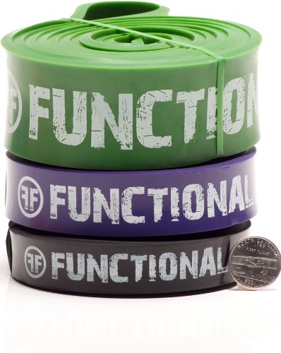 FF #3, #4 and #5 assisted pull-up bands with Free GWP - Continuous Loop Band Kit Includes: (1) #3 Black Band, (1) #4 Purple Band, (1) #5 Green Band With Combined Resistances of 30 - 250 Pounds (14 - 113 Kilograms)For Chin Ups, Stretching, Pilates, Rehab, Physical Therapy, Deadlift, Powerlifting, Jump, Speed, Total Body Functional Training, Ring Dips, Muscle Ups, Exercise, Legs, Upper Body, Core Stability, Home Gym Equipment