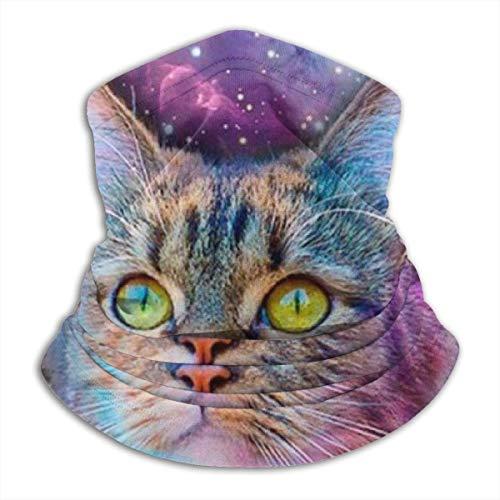 LiGHT-S Multifunktions-Halstuch, schöne Katze Sternenhimmel Reversible Ear Stirnband Maske Ultimative thermische Retention Vielseitigkeit, für Männer