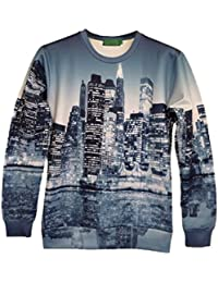 Demarkt Mode Homme Sweat-shirts/ Sweat/ Sweatshirt/ Sweat Swag avec 3D Image Individualisé sans Capuche M / L/ XL