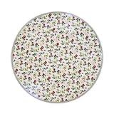 Krasilnikoff Plate, White Mille Fleurs D: 20,0 [A]
