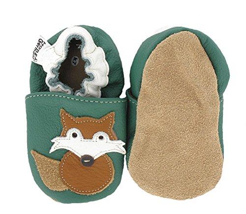 Kinderschuhe in verschiedenen Farben und Design mit Tieren von HOBEA-Germany Fuchs
