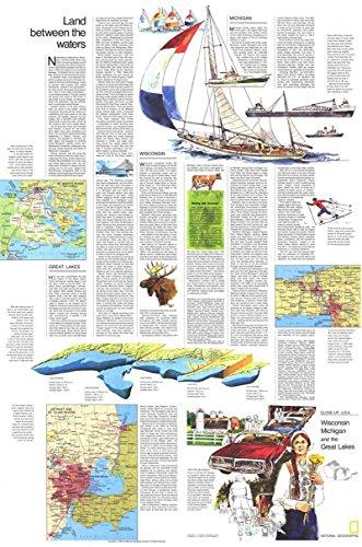 Reproduktion eines Poster Präsentation-USA-Wisconsin, Michigan, großen Seen 2(1973)-61x 81,3cm Poster Prints Online kaufen