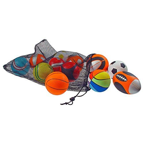 Mini Sportball-Set, Football, Basketball, Fußball, Ballspiel, ø 10 cm, 12 Stk