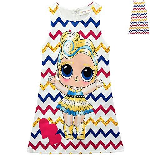OL Rock Tutu Kleinkind Kinderkleidung Geburtstagsgeschenk Party Kostüm Alter 3-8 Jahre,130cm ()