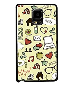 PrintVisa Designer Back Case Cover for Samsung Galaxy Note Edge :: Samsung Galaxy Note Edge N915Fy N915A N915T N915K/N915L/N915S N915G N915D (I Love Accessories Cute Design)