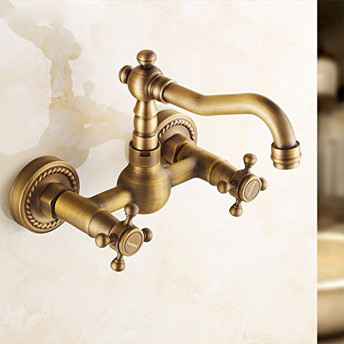 LHbox Die Barocke Kupfer Continental Antike Badewanne Wasserhahn Warmes und Kaltes in die Wand...