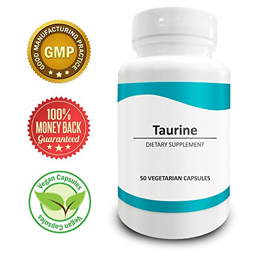 51EXgzTwFvL. SS500  - Pure Science Taurine 1000mg -Taurine Supplement Improves Cardiovascular Health, Regulates Blood Sugar Level & Mood - 50 Vegetarian Capsules of Taurine Powder