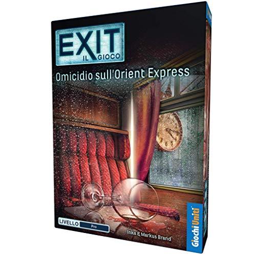 Giochi Uniti- Exit: OMICIDIO SULL'ORIENTE Express Excape Room, Multicolore, GU333