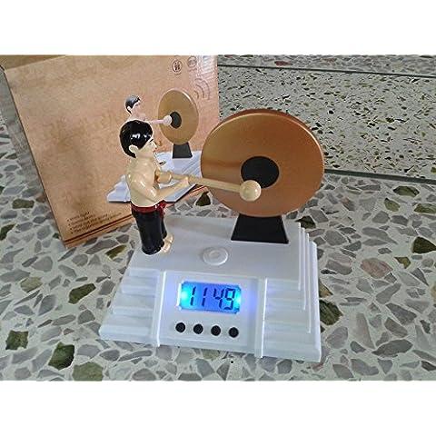 KHSKX Despertador Gong Bruce Lee relojes de vigilante la gente perezosa batir el reloj Gong