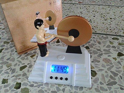KHSKX Gong-Wecker Bruce Lee Wächter Uhren faule Menschen gegen die Gong-Uhr Atomic Digital-wecker