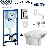 Grohe Rapid SL Bâti-support WC + Alterna carré Fixation murale Cuvette de toilettes et Soft Close 38827000