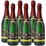 Rotkäppchen Sekt Flaschengärung Chardonnay Extra trocken 6 x 0,75l  - Premiumsekt aus edlen Weinen - zum Anstoßen/ für besondere Anlässe /Geburtstag / als Geschenk