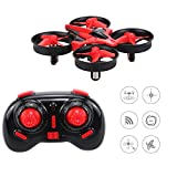 NH010 Mini RC Drone Quadcopter, 2.4G 4CH 6 Axis Headless Mode Remote Control UFO Nano Quadcopter RTF Mode 2 With Led Light for Night Fly