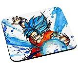 Tapis de Souris God Goku Dragon Ball Super Cheveux Bleu Sangoku DBZ Manga