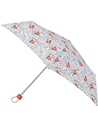 Totes Womens Supermini 3 Section Umbrella With A Forest Animal Print