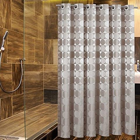 Jacquard fabric shower curtain mirror/Waterproof padded mildew bathroom Bathroom curtain/ homelike Hotel shower curtain-F