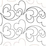 "Quilting Creations Printed Tear Away Quilting Paper 4/Pkg-Pieces Of My Heart 5.25"" (Pack of 1 )"