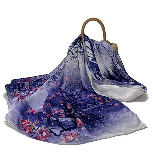 FELOVE 100% Seide Damen Schal Schals Schal Wraps Hair Wraps (Tuschemalerei) -