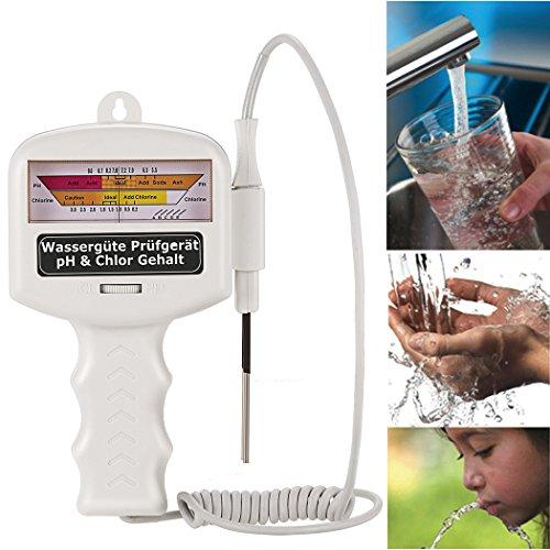 Tomasa Elektronisch Wassertestgerät Wasser Test pH Chlor Elektro Wassertester Wasserqualität Tester Pool Spa Schwimmbad(DE Lager) -