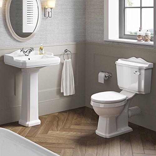 Traditionelle Suite Full Sockelwaschbecken-Spüle + in Verbindung Keramik WC-Set cs629a - Moderne Set Podest