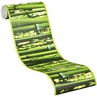 A.S. Création selbstklebende Bordüre Stick Ups Borte Bambus fotorealistisch Wellness 5,00 m x 0,17 m hellgrün Made in Germany 903617 9036-17