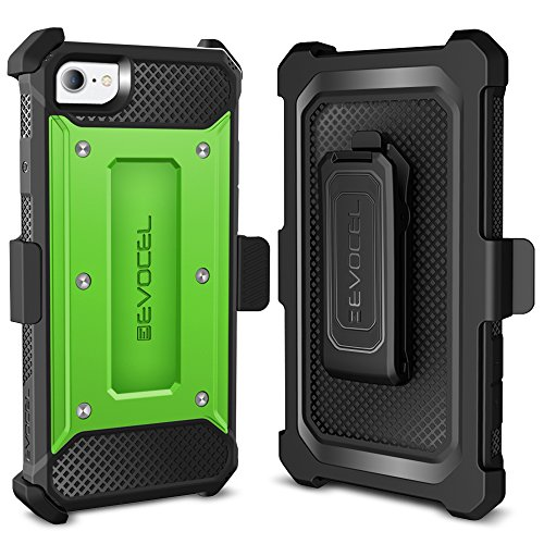 iPhone 7 Case / iPhone 6 Case, Evocel [Explorer Series] Premium Hybrid Protector [Dual Layer][Belt Swivel Clip] For iPhone 7 / iPhone 6 & 6s, White (EVO-IPH7-ZZ18) Green