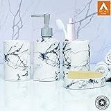 #3: Archies Exclusive Bathroom Accessories Set in Ceramic Material, Set of 4 Pcs