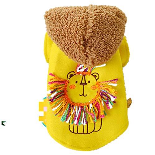 Hündchen Kleidung Haustier Pullover kleiner Hund Welpe kleiner Löwe Kostüm Hellgelb XL