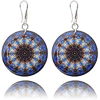 Midnight Blue Kaleidoscope Earrings for Mum