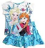 Frozen - Die Eiskönigin T-Shirt und Rock Kollektion 2018 Set 98 104 110 116 122 128 Mädchen Kurzarmshirt ELSA Disney (Weiß-Blau, 110-116)