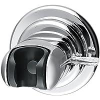 HOMFA Soporte de Alcachofa Ajustable Soporte para ducha y baño Cromado ventosa soporte Carga de 3kg
