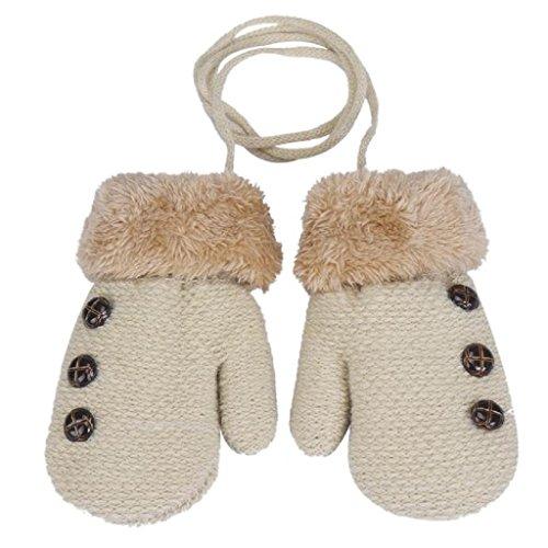 Longra Handschuhe, Niedliche Baby Jungen Mädchen Kleinkind Winter-warmen Baumwolle Fäustlinge Handschuhe (0-12 Monate) (Beige) - Und Boy-mütze Baby Fäustlinge