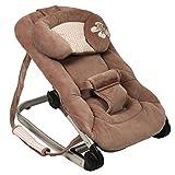 Transat balancelle luxe velours pour bébé - Chocolat carreaux rose