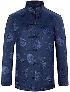 KIKIGOAL Verdickt Chinoiserie Tang-Anzug Kostüm Jacke für Männer Chinesische Kleidung Baumwolle Material für Helbst...