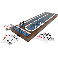 Swing Design Collector's Edition Large Cribbage Board with Walnut and