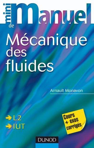 Mini manuel de Mécanique des fluides: Rappels de cours, exercices corrigés