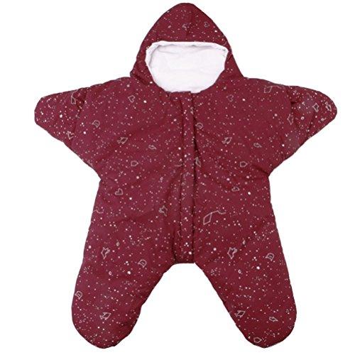 Araus sacco a pelo neonato bambino cotone a forma di stella imbottito morbido comodo coperta per divano, letto e passeggino,0-1 anni