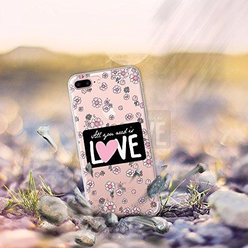 iPhone 7 Plus Hülle, WoowCase® [ Hybrid ] Handyhülle PC + Silikon für [ iPhone 7 Plus ] Französische Bulldogge Tier Mehrfarbige Design Handytasche Handy Cover Case Schutzhülle - Transparent Hybrid Hülle iPhone 7 Plus D0309