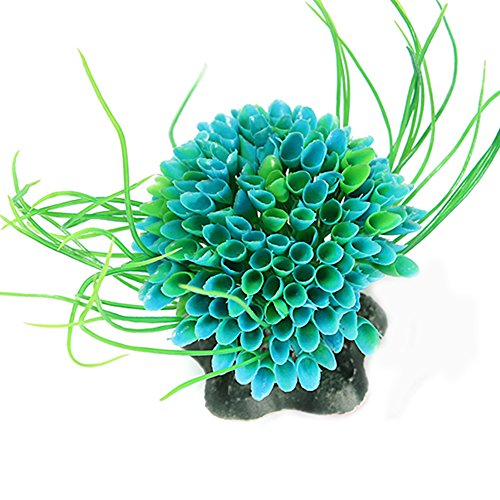 Plastic Green Grass Decor Artificial Water Plant Ornament for Fish Tank Aquarium Test