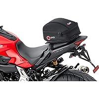 Bolsa portaequipajes trasera Qbag para moto03, equipaje para moto para asiento trasero, portaequipajes, bolsa portaequipajes para moto, capacidad de 5 litros, fácil de meter y sacar objetos, negra