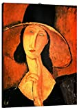Quadro intelaiato pronto da appendere Modigliani 07 cm 50x70 Stampa su tela Canvas Il Negozio di Alex