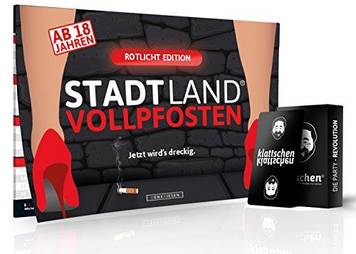 DENKRIESEN - Party Pack - Stadt Land VOLLPFOSTEN ROTLICHT Edition & klattschen - Das wahrscheinlich Party Pack Aller Zeiten